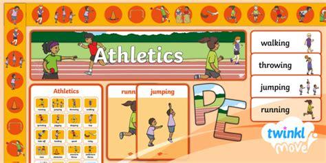 * New * Twinkl Move Pe Ks1 Athletics Display Pack  Athletics, Running