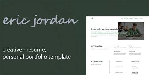 21157 resume portfolio template eric creative personal portfolio cv resume template