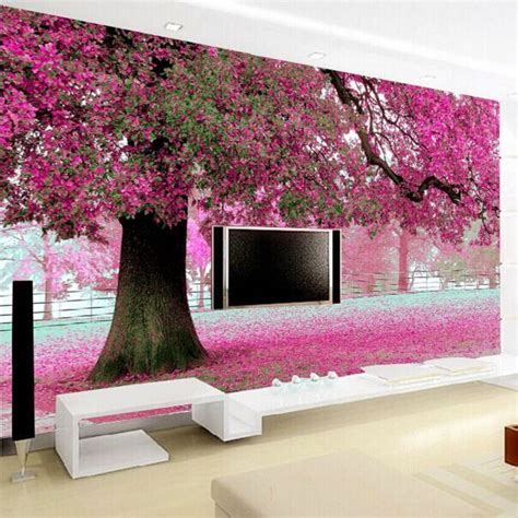 purple flower tree  wall papers cherry blossom wallpaper