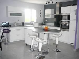 Davausnet modele cuisine ouverte avec ilot avec des for Cuisine ouverte avec ilot