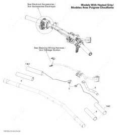 Ski Doo 2010 Mx Z - Tnt 550f  Steering Wiring Harness Heated Grip