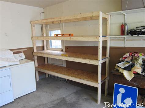 shelves for garage how to build a shelf for the garage