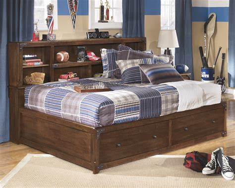 delburne full bookcase bed delburne kids full storage bed by ashley furniture texas