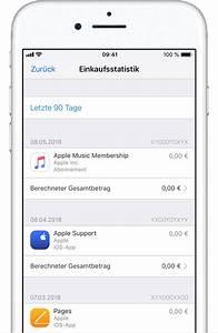 Wann Verjährt Eine Rechnung : einkaufsstatistik im app store oder itunes store einsehen apple support ~ Themetempest.com Abrechnung