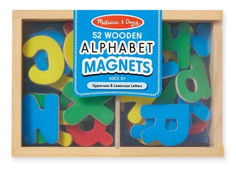 amazoncom melissa doug  wooden alphabet magnets