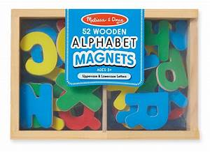 amazoncom melissa doug 52 wooden alphabet magnets in a With melissa doug magnetic letters