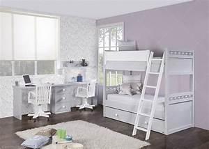 Lit Enfant Double : chambre double avec lit et bureau double chez ksl living ~ Teatrodelosmanantiales.com Idées de Décoration