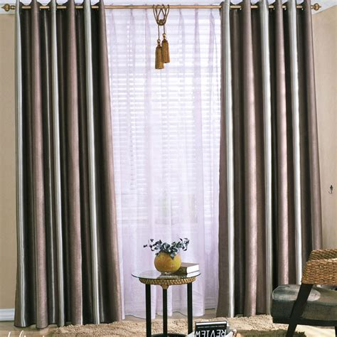 Striped Curtain Panels by Stripe Blackout Curtains Rooms