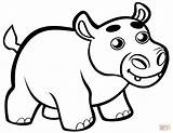 Hippo Coloring Hippopotamus Clipart Printable Mother Animals Cartoon Template Preschool Webstockreview Supercoloring Categories sketch template