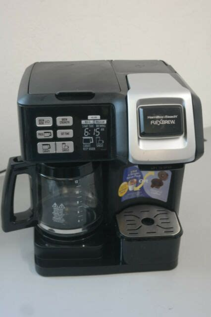 User rating, 4.5 out of 5 stars with 1011 reviews. Hamilton Beach FlexBrew 2-Way Coffee Maker - Black for sale online | eBay