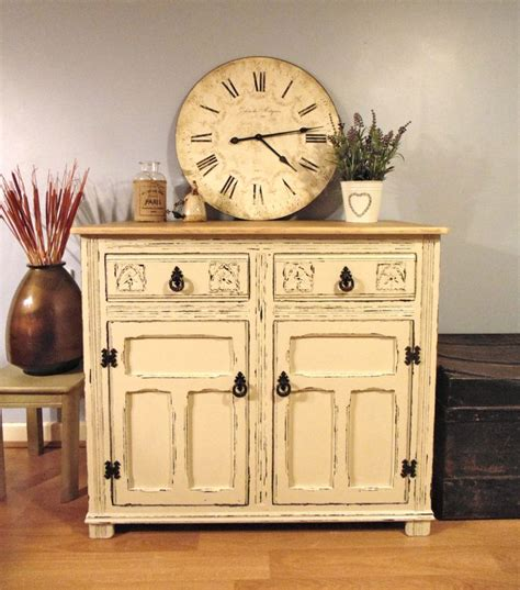 preloved shabby chic furniture fantastic old charm sideboard hand painted in farrow ball old white and distressed with