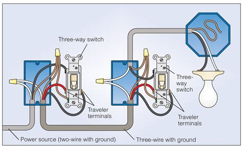 1 3 Way Light Switch Wiring Diagram by How To Wire A 3 Way Light Switch Buzzza