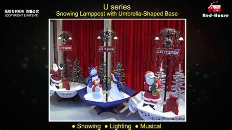 led lights musical snowing christmas decoration