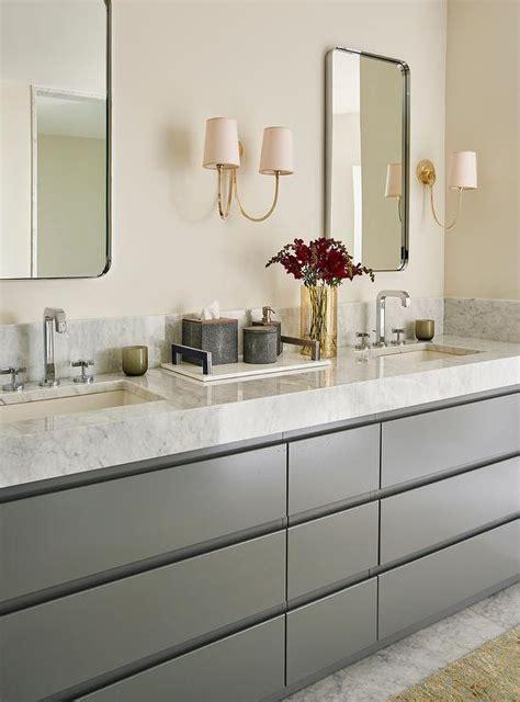white gray master bathroom gray dual vanity