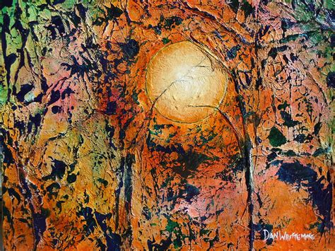 Copper Moon Painting By Dan Whittemore