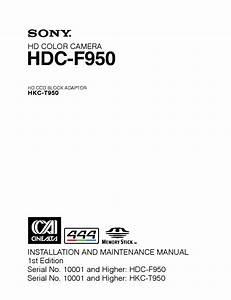 Panasonic Hdcu 950 Installation And Maintenance Manual
