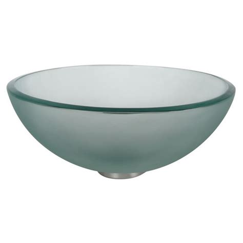 frosted glass vessel sink kraus frosted 14 39 39 glass vessel sink with free shipping