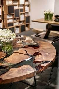 Table En Bois Et Resine : 15 resin tables to add a natural feel to your home shelterness ~ Dode.kayakingforconservation.com Idées de Décoration