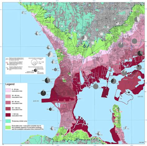 evacuation time map  kuta bali  scientific