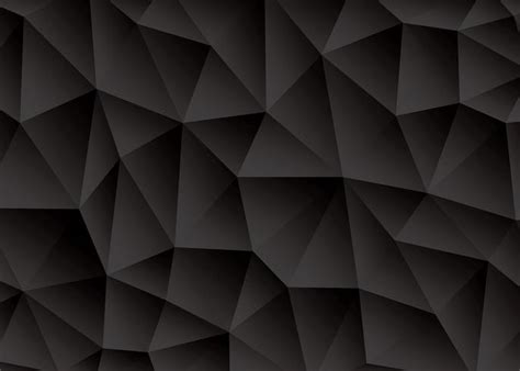 Abstract Black Triangle by Triangle Abstract Black Background Vector Free