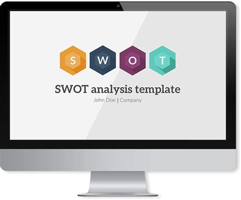 swot powerpoint template improve