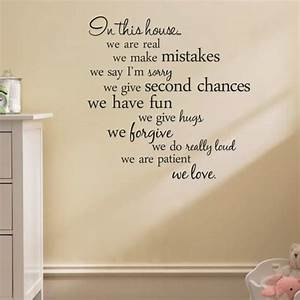 house rules quote wall stickers home decor living room diy