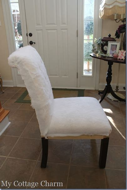 How To Upholster A Chair by My Cottage Charm How To Tuft And Upholster A Chair