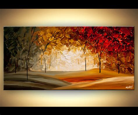 modern abstract paintings original abstract paintings by osnat modern abstract landscape blooming trees textured