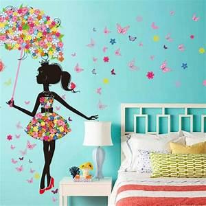 Décoration Murale Chambre Fille : d corez la chambre petite fille de stickers muraux originaux ~ Teatrodelosmanantiales.com Idées de Décoration