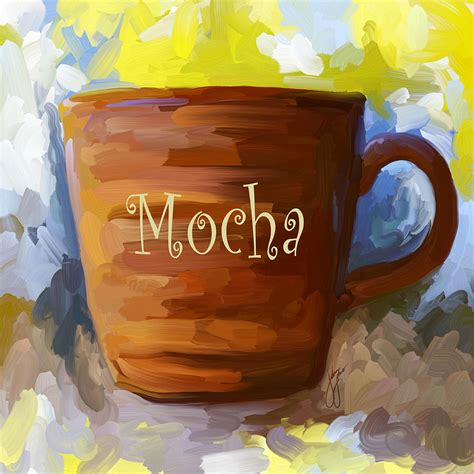 Learn how to paint coffee & books acrylic painting tutorial virtual online. Mocha Coffee Cup Painting by Jai Johnson