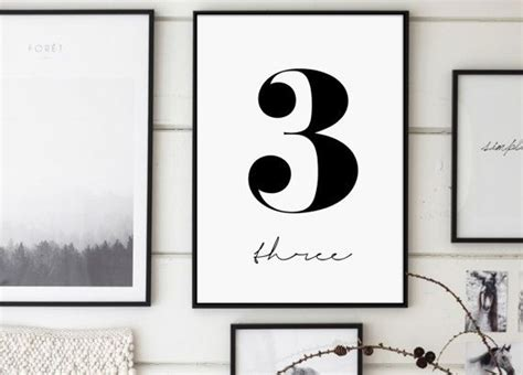 Shop the biggest selection of wall décor at the best prices from at home. Number 3 Three Print 3 Poster Numbers Art Numbers (With images)   Number wall art, Numbers ...