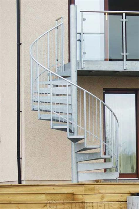 external spiral staircases  outdoor   steel view