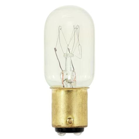 specialty light bulbs westinghouse t7 15 watt d c bayonet base incandescent l