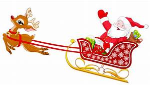 Santa With Reindeer - ClipArt Best