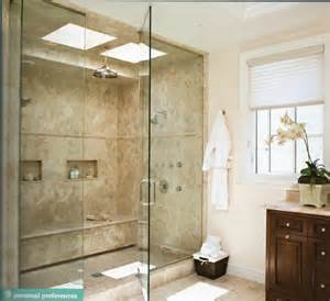 Large Shower Baths Ideas large shower shower heads cubbies and lots of
