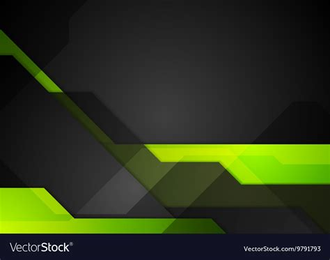 Black Yellow Green Abstract Background by Green Black Abstract Tech Background Royalty Free Vector