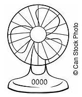 Fan Electric Blower Clipart Table 3d Clip Illustration Background sketch template