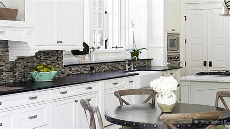 white kitchen backsplash pictures white counter tops white cabinets with subway tile 1321