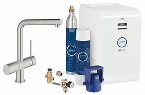 Grohe Minta Supersteel : grohe blue minta kitchen sink mixer tap with professional ~ Watch28wear.com Haus und Dekorationen