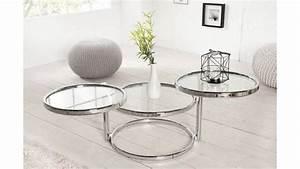 Table Basse Art Deco : table basse design art d co argent folco en argent m tal chrom et verre ~ Teatrodelosmanantiales.com Idées de Décoration