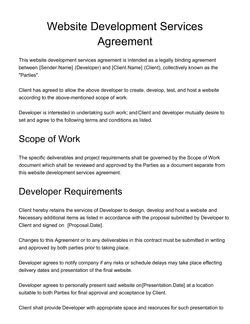 web development   design proposal templates