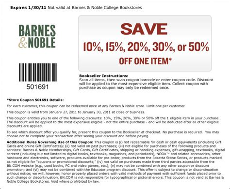 barnes and noble coupons in barnes and noble 50 one item page 3