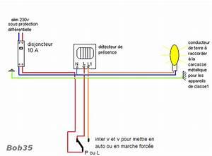 probleme branchement halogene avec detection et interrupteur With comment installer un projecteur exterieur 16 schema electrique branchement cablage