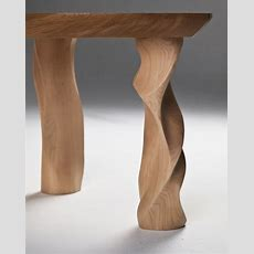 Beautiful Wooden Table With Legs Inspired By Pillars