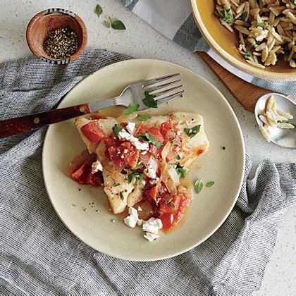cod baked tomatoes feta recipes recipe myrecipes mayor spollen randy claire styling