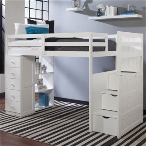 bunk beds with built in desk and drawers mountaineer twin loft bed with storage tower and built in