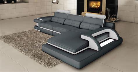 canapé d angle cuir noir deco in 3 canape d angle cuir gris et blanc design avec lumiere ibiza angle droit ibiza