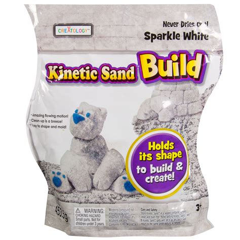 kinetic sand glitzer spin master kinetic sand kinetic sand build 1lb white