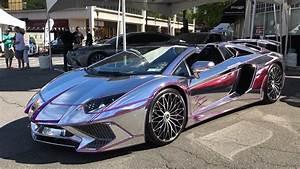 Chrome & Purple Lamborghini Aventador SV ! - YouTube  Lamborghini
