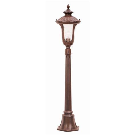 elstead cc4 s rustic bronze 1 light post l ip44